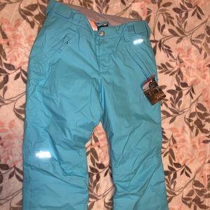 Light blue snow pants